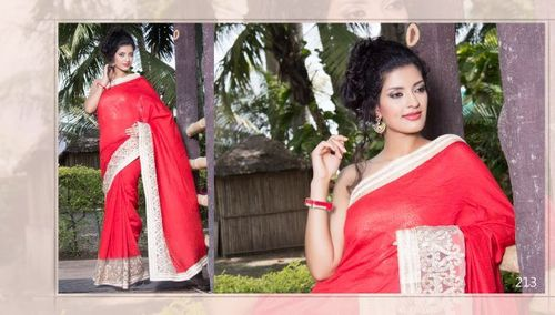 Indian Ethnic Embroidered Saree