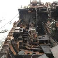 ship demolition scrap