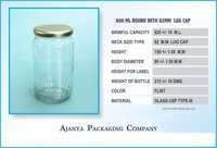 1 Kg Honey Round Jar