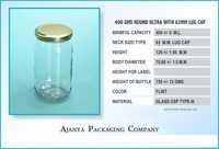 500 Gm Jam Jar Round Lug
