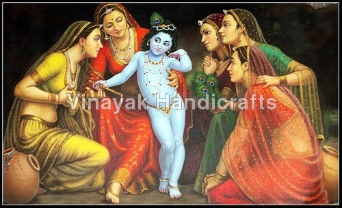 Bal Krishna Oil Painting