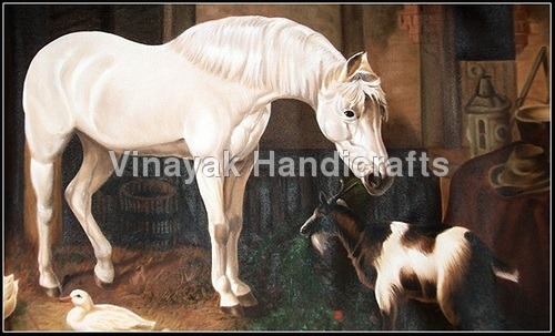 Hors Oil Painting