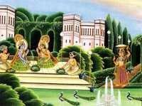 Krishna and balaram eating food