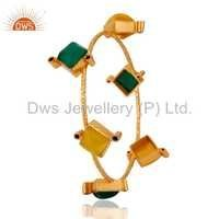Gold Plated Gemstone Fahsion Bangle