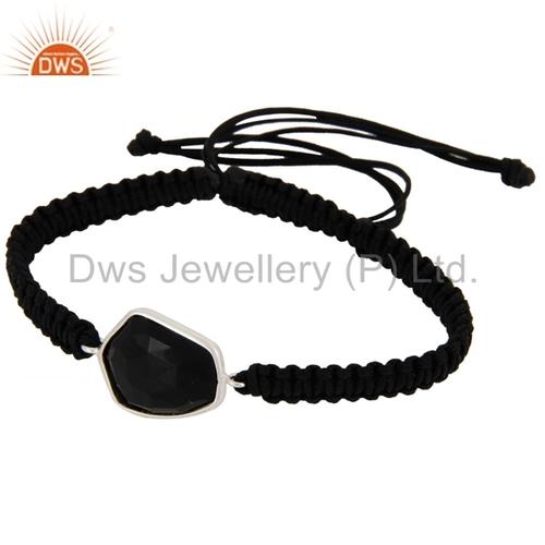 Black Onyx Gemstone 925 Silver Bracelet