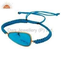 Turquoise Gemstone Sterling Silver Bracelet