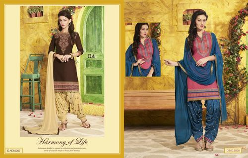 Cotton Patiyala Salwar Kameez