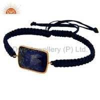 Lapis Lazuli Gemstone 925 Silver Bracelet