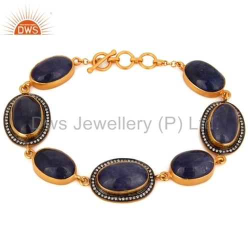 Natural Tanzanite Gemstone Bracelet