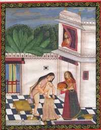 After Bath Bundi painting
