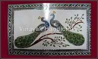 Color Glass Peacock Panel