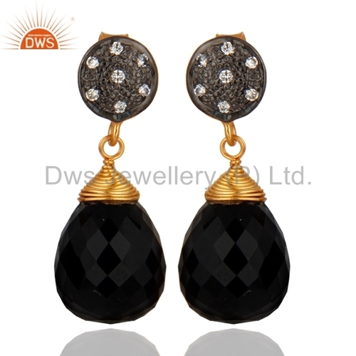 Black Onyx Gemstone 925 Silver Earring