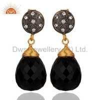 Black Onyx Gemstone 925 Silver Earring