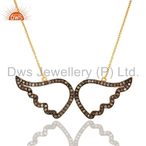 Pave Diamond Gold Pendant Necklace