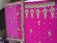 Unstitched Pink Salwar Kameez Material