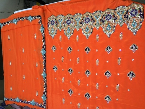 Orange Salwar Kameez Material