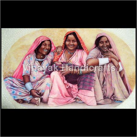Village Ladies Miniature Painting