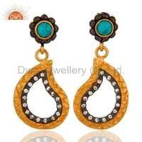 Turquoise Gemstone Fashion Earrings