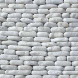White Flat Pebble