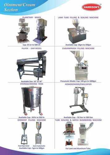 Ointment Machinery