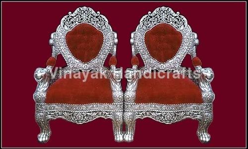 Silver & White Metal Furniture
