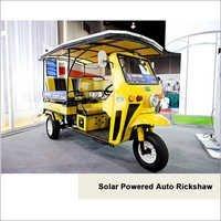 Solar Powered Auto Rickshaw