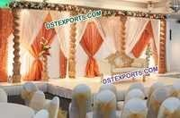 Wedding Wooden Pillar Open Stage