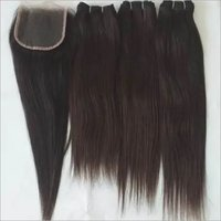 Temple straight human hair