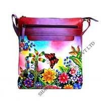 Leather Hand Painted Side Bag