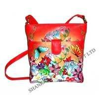 Leather Hand Painted Fashionable Sling Bag