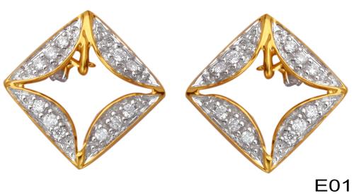 Diamond Stud Earrings Set