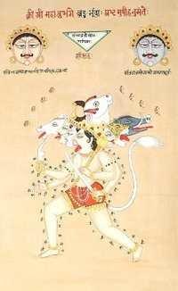 The tantric mnfeestation of Hanuman ji