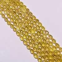 lemon quartz faceted top drill drop beads