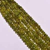 Peridot plain rondelle beads