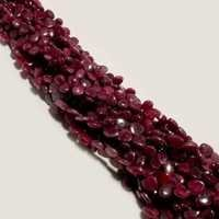 Ruby Plain  almond shape 5x7mm to6x8mm beads