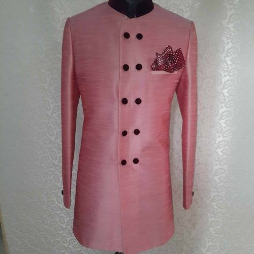 Silk With Velvet Touch Sherwani