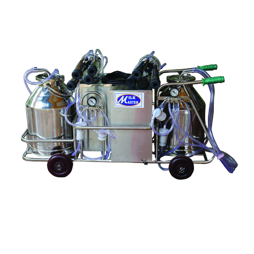 Double Cluster Semi Automatic Milking Machine