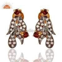 925 Silver Cubic Zircon Stud Earrings