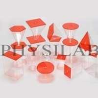 3D Solid Set 10cm, Transparent