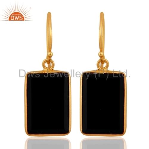 Black Onyx Gemstone Earring Jewelry Supplier