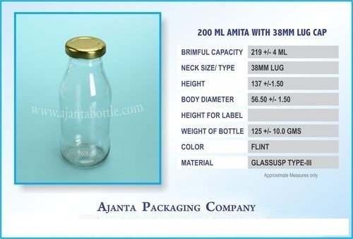 200 Ml Amita with 38mm Lug Cap