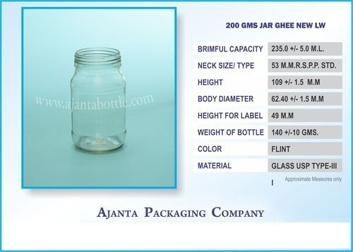 200 Gms Jar Ghee New LW