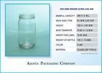 400 Gms Round Ultra Lug Jar