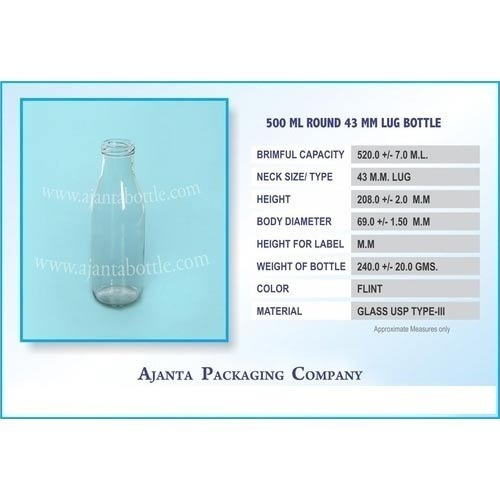 500 Ml Round Water Juice Bottle