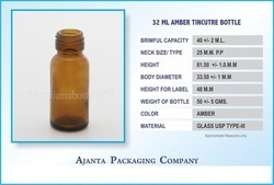 32 Ml Amber Tincture Bottle