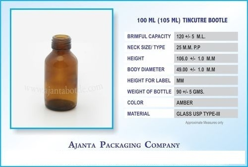100 ML(105 ML) Tincutre Bottle