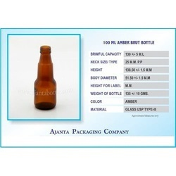 100 Ml Amber Brut Bottle