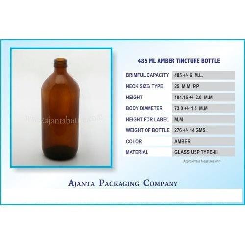 485 Ml Amber Tincture Bottle