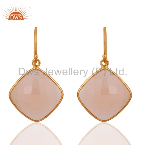 Rose Chalcedony Gemstone Earring Jewelry