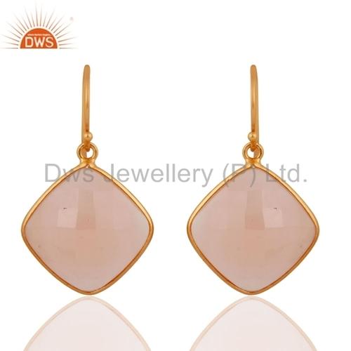 Rose Chalcedony Gemstone Earring Jewelry